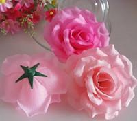 """100pcs 11cm / 4.33 """"20 colores Seda artificial Camelia Rose Peony Cabezas de flores Banquete de boda Decorativo Flwoers Varios colores disponibles"""