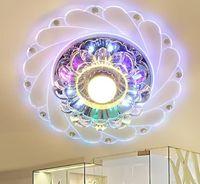 Nuevo diseño moderno pasillo espejo lámpara de techo pasillo veranda iluminación abajo cristal superficie montada LED luces de techo