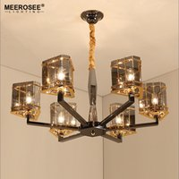 New Arrival Crystal Chandelier Light Glass Hanging Suspensio...