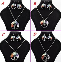 Women Rainbow 7 Chakra Amethyst Tree Of Life Quartz Chips Ea...