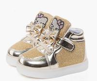 أحذية الفتيات الطفل الأزياء هوك حلقة الصمام أحذية أطفال تضيء متوهجة أحذية رياضية ليتل بنات الأميرة أحذية الأطفال مع الضوء