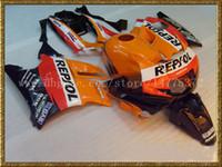 Los carenados de alta calidad + tanque para Honda CBR600 F2 91 92 93 94 CBR 600 1991 1992 1993 1994 CBR600F2 carenado kits # 5r23a rojo anaranjado negro