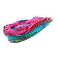 Регулируемый красный, белый, синий, розовый органзы ленты воск шнур ожерелье и другие цвета на складе ZYN0009-Mix