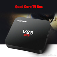 Quad core RK3229 Android 7.1 V88 4K cajas Android OTT TV Box Reproductor multimedia compatible Wifi HDMI android tv box