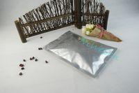 10x17.5cm Wołowina Jerky Studka, 100 sztuk Srebrny Biały Czysta Folia aluminiowa Zip Lock Bag-Dustoodporna Wysuszona Wieprzowa Opakowanie Kieszeń Przechowywanie Żywności Mylar Pocket