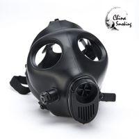 Máscara de gás Cachimbo de Água Única máscara de Tubos de Água Selado Acrílico Hookah Tubo Bongo Filtro de Alta qualidade Sólida e Colorida Máscara De Silicone