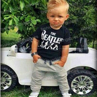 Hot Sale 2016 Baby Boy clothes black Short Sleeve T- shirt To...