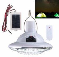 22 LED Solar Yard Outdoor Wandern Zelt Licht Camping Hängelampe Mit Fernbedienung Reinweiß Solarpanel 3,7 v / 1 w