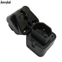 Amvykal Top-Qualität Universal Black Weiß-Stecker-Adapter Buchse zu Pro IEC 320 PDU UPS C14-Stecker-Adapter-Konverter