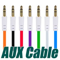 3. 5mm Aux Cable Colorful Flat Auxiliary Audio Cable Male to ...