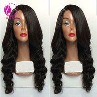 130-180% Densidad Pelucas brasileñas del pelo humano de la Virgen Peluca llena del cordón Peluca de encargo Hairline 100% peluca delantera del cordón sin cola