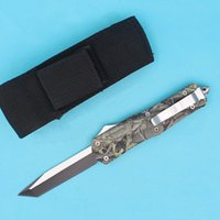 Top Quality Outdoor Auto Tactical Knife 440C Tanto Blade Out...