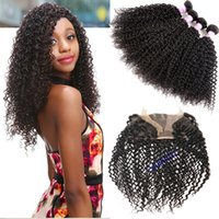 8A Kinky Curly Hair With Lace Frontal Malaysian Virgin Hair ...