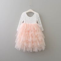 Everweekend Girls Princess Tutu Party Dress Abiti in pizzo Multi colore Tulle Maxi Ruffles Holiday Dress Abito color caramella di Natale