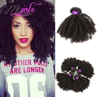 Mongolian human kinky curly hair weave unprocessed virgin ha...