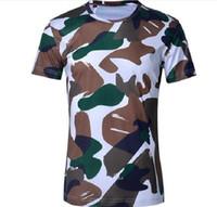 Mens designer Brand vestiti uomo hombre slim fit stampa Camouflage T-Shirt manica corta da uomo plus size T-Shirt uomo camicia dell'esercito