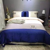 tessili per la casa luxuary emboridery set di biancheria da letto quattro pezzi con 60 tessuto di cotone a grana lunga 16011