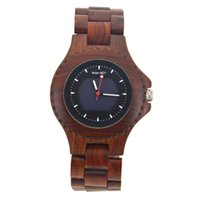 Hot Simulation Wooden Men Solar Watches Casual Wooden Color ...