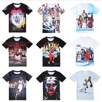 Wholesale LBJ KD basketball star t shirt for men OKC CP3 spo...