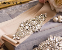 Wedding Dress Belt Glass Crystal Rhinestone Pearls Handmade ...