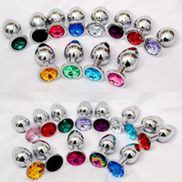 Small size Stainless Steel Metal Anal Plug Booty Beads Stain...