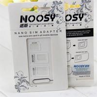 500set / lot * noosy 4 in 1 scheda Nano SIM a Micro Nano Micro a adattatore mini sim per adattatore sim card per cellulare smartphone
