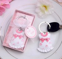 Exceptional Wholesale  Cute Baby Cloth Key Chain, Baby Baptism Gift For Baby Shower  Decoration, Return Gifts For Guests, In Pink Blue