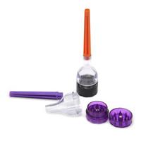 Çok fonksiyonlu Plastik Huni Öğütücü 3 Parça Koni Sanatçı Premium Koni Rulo Sigara Değirmeni Makinesi Haddeleme Dolgu Koni Rulo Makinesi