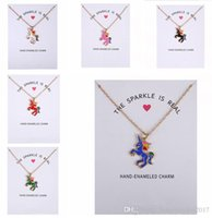 2017 New Dogeared Necklace With Card Rainbow Unicorn Colored...