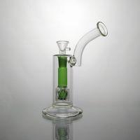 Migliori Water Pipes di vetro verde acqua Percolator salviette per fumo 18,8 millimetri vetro poco costoso Bong in vendita Oline headshop spedizione gratuita
