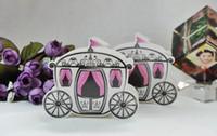 Venta al por mayor-50pcs cajas encantadas lindas del favor del carro de la boda caja del caramelo caja dulce del azúcar banquete de boda regalos del FAVOR