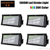 Remendo LED Ativo Áudio 800 RGB fase de desconto Preço 4 Unidade Gigertop Marca Stage Strobe Light 1000W de som para KTV Disco 110V-220V