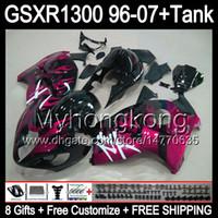 ローズフレーム8ギフトHayabusa GSXR1300 96 97 98 99 00 01 13My31 GSXR 1300 GSX-R1300 GSX R1300 02 03 04 04 05 06 07光沢の黒いフェアリング