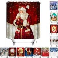 높은 품질 샤워 커튼 크리스마스 패브릭 홈 새해 후크에 대한 방수 욕실 산타 장식 무료 배송