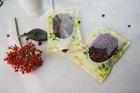 18 * 26cm, 100pcs / lot fleur imprimant le sac ziplock en plastique de PET avec le sachet de stockage de puissance de fenêtre-lait réouvrable, sac en plastique anti-poussière à l'avoine