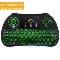 New P9 Colorful Backlit Mini Wireless Keyboard 2. 4GHz Air Mo...