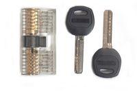 Transparente AB Key Copper bloqueio serralheiro prática de exercícios ambos os lados hialinas Mortise Locks Núcleo Cadeado ordem de julgamento 19sy C