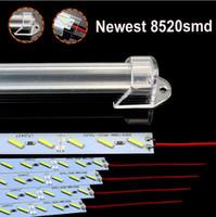 50см 7020 водить жесткую полоса DC12v привела бар свет U-образной оболочку из алюминиевого сплава под шкафом Молочна крышка Прозрачной крышки