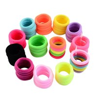 Wholesale Mix Colors Girls Children Elastic Hair Bands fluor...