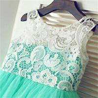 Brand New Flower Girl Dresses Real Party Dress Pageant Communion Dress pour petites filles Enfants / Enfants Dress for Wedding