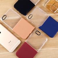 Nueva caja del teléfono móvil del diseño 2in1 TPU + PC para la caja suave del teléfono celular del iPhone 7G 7plus TPU