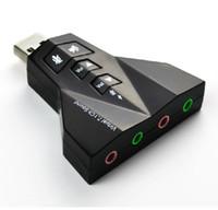 Doppia scheda audio virtuale 7.1 Channel Adapter USB 2.0 Audio doppio microfono e auricolare 7.1Ch 3D Sound Card Audio
