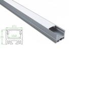 100 juegos x 1m / Diseño de casas lot llevó el perfil de aluminio y 15 mm de alto en forma de U llevado disipador de calor para el canal de techo o apliques empotrables