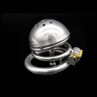 Hot New Super Piccolo Maschio Chastity dispositivo adulti Cage Rubinetto con catetere uretrale BDSM giocattoli del sesso in acciaio inox Chastity G130 Dispositivo