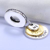 الجملة 925 الفضة الاسترليني غير مطلي YouMe للأبد قلادة سحر الأوروبي سحر الخرز صالح باندورا سلسلة سوار مجوهرات ديي