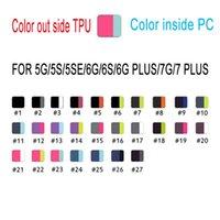 En Kaliteli TPU + PC Shotch Geçirmez Kılıf Stander ve Sarı Perakende Kutusu Için iphone 5 S 6 6 S 7 Artı Samsung S5 S6 S7 Kenar Not Için 5 4