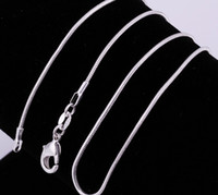 100pcs 925 sterling silver 1.2mm snake chain 16