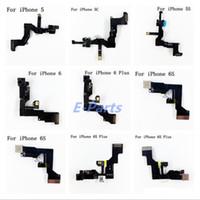Avant Face à la Caméra Pour iPhone 5 5s 5c 6 6s 6sp Face Face Caméra Proximité Capteur de Lumière Flex Ruban Câble Livraison gratuite