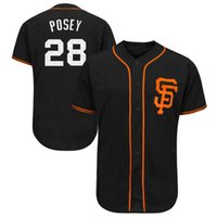 Hommes San Francisco Giants Buster Posey Maillots de baseball 2017 Printemps Formation Flex Base 100% Stitched Player Jersey