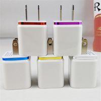 Double métal mural USB Chargeur EU Plug 2.1A Adaptateur secteur US Chargeur Port Prise 2 pour téléphone pour Samsung